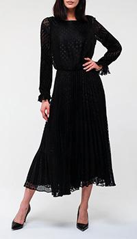Черное платье Emporio Armani в горошек, фото