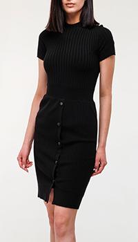 Черное платье Emporio Armani на пуговицах, фото