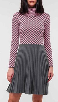 Трикотажное платье Emporio Armani с юбкой в складку, фото
