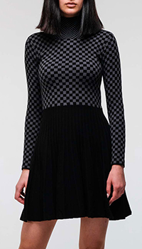 Платье Emporio Armani в шахматную клетку из кашемира, фото