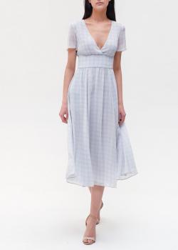 Платье в клетку Emporio Armani с открытым декольте, фото