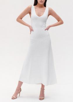 Трикотажное платье Emporio Armani белого цвета, фото