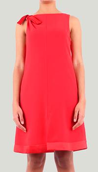 Красное платье Emporio Armani с бантом на плече, фото