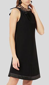 Черное платье Emporio Armani с открытой спиной, фото