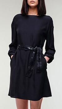 Темно-синее платье Emporio Armani с поясом, фото