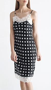 Черное платье Ermanno Scervino с кружевом, фото