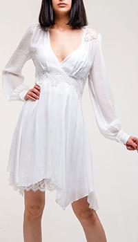Белое платье Ermanno Ermanno Scervino с асимметричной юбкой, фото