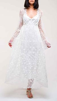 Кружевное платье Ermanno Ermanno Scervino белого цвета, фото