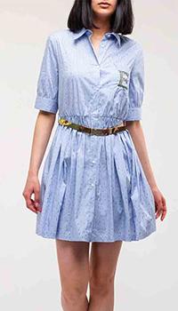 Полосатое платье Ermanno Ermanno Scervino с вышивкой-логотипом, фото
