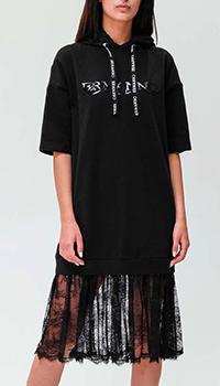Черное платье Ermanno Ermanno Scervino с капюшоном, фото