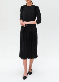 Черное платье Ermanno Ermanno Scervino с кружевными вставками, фото