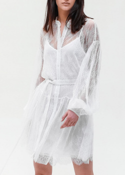 Платье-рубашка Ermanno Ermanno Scervino с пышными рукавами, фото