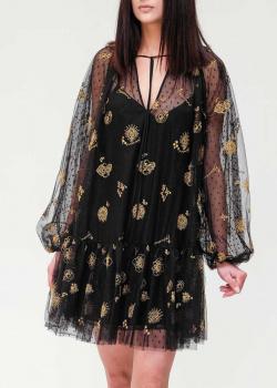Черное платье Ermanno Ermanno Scervino с пышными рукавами, фото