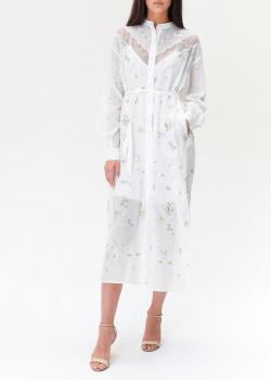 Белое платье Ermanno Ermanno Scervino с цветочной вышивкой, фото