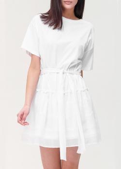 Белое платье Ermanno Ermanno Scervino с поясом, фото