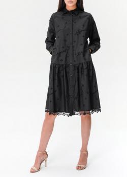 Черное платье Ermanno Ermanno Scervino с фирменной вышивкой, фото