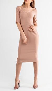 Платье Dolce&Gabbana нюдового цвета с коротким рукавом, фото