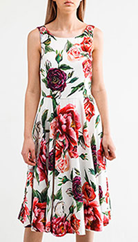 Платье-сарафан Dolce&Gabbana с цветочным принтом, фото