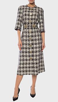 Платье Dolce&Gabbana в серую клетку, фото