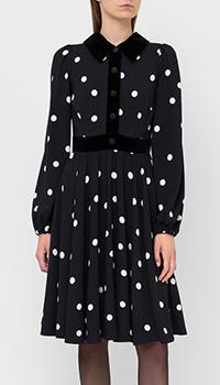 Черное платье Dolce&Gabbana в горох, фото