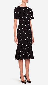 Шелковое платье Dolce&Gabbana в горох, фото