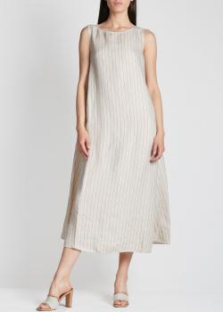 Льняное платье Fabiana Filippi в тонкую полоску, фото