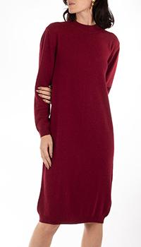Кашемировое платье GD Cashmere бордового цвета, фото