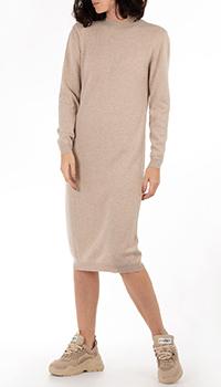 Кашемировое платье GD Cashmere бежевого цвета, фото