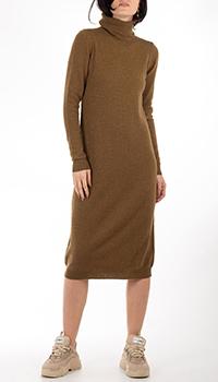Оливковое кашемировое платье GD Cashmere средней длины, фото