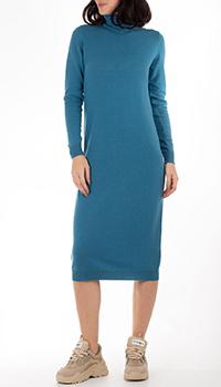 Кашемировое платье-гольф GD Cashmere синего цвета, фото