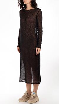 Трикотажное платье GD Cashmere черного цвета, фото