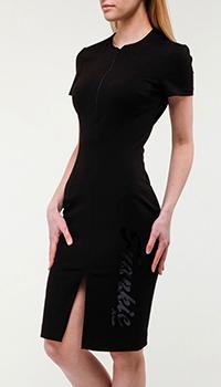 Черное платье Frankie Morello с логотипом, фото