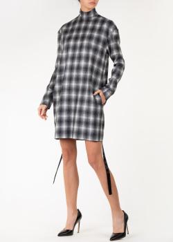Платье в клетку Nina Ricci прямого кроя, фото