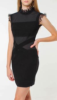 Платье до колен Frankie Morello с декором-рюшами, фото