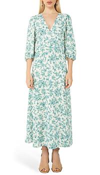 Голубое платье Vivetta с растительным узором, фото