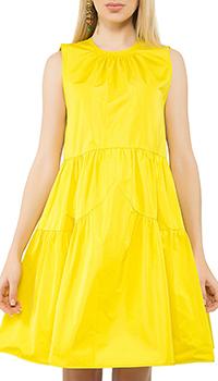 Желтое платье N21 с широкой юбкой, фото