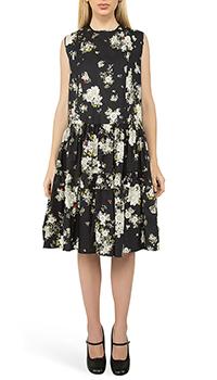 Черное платье N21 с цветочным принтом, фото