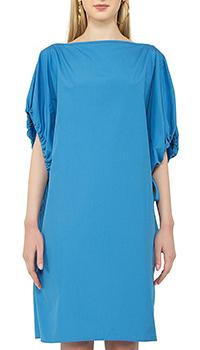 Платье-футляр N21 синего цвета, фото