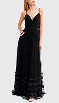 Длинное платье Liu Jo на бретелях черного цвета, фото