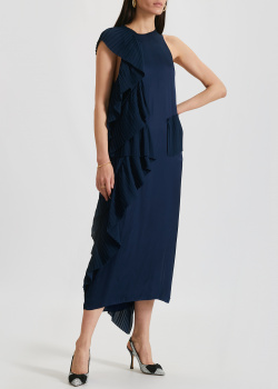 Синее платье Kenzo с воланами, фото