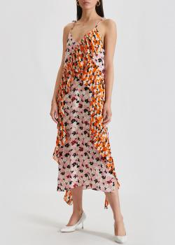 Платье на тонких бретелях Kenzo с флористическим принтом, фото