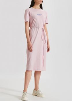 Розовое платье Kenzo с поясом, фото