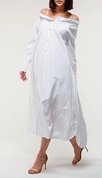 Белое платье Kenzo с открытыми плечами, фото