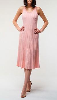 Розовое платье Kenzo с пышной юбкой, фото