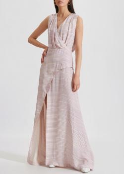 Длинное шелковое платье Kenzo с разрезом, фото