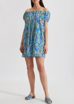 Шелковое платье Kenzo с открытыми плечами, фото
