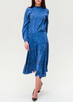 Шелковое платье Kenzo синего цвета, фото