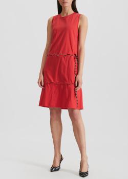 Платье из хлопка Kenzo красного цвета, фото