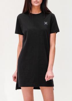Черное платье Kenzo с принтом на спине, фото