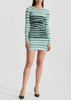 Трикотажное платье Kenzo мятного цвета в полоску, фото